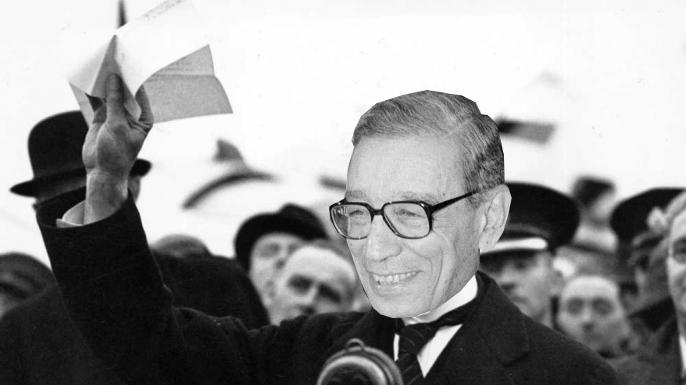 """"""" I believe it is peace for our time,"""" řekl Butrus Butrus-Ghálí po vyřešení první Chrudimské krize."""