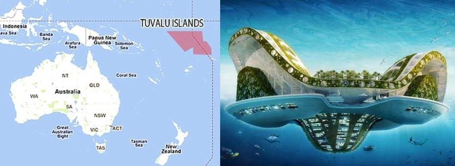 Důkazy: Mapa a řídící centrum na Tuvalu