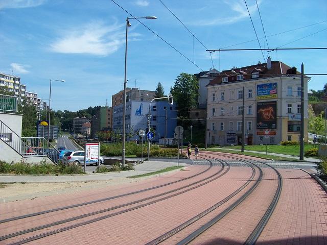 Liberec, ulice Na Bídě. Zde nalezla paní Ludmila Selský rozum.