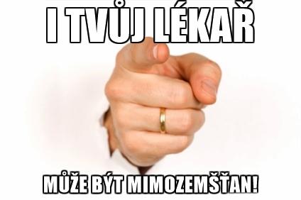 Těmito vyrovnými plakáty chce Dr. Kotík oblepit Czechii.