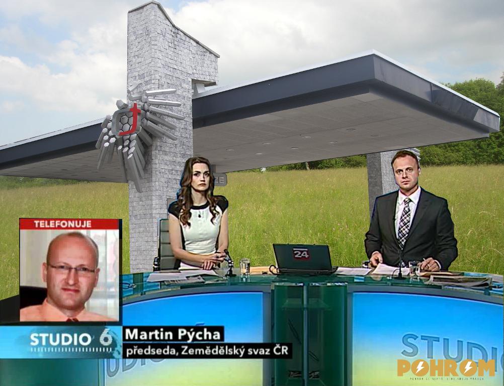 Dnešní vysílání Studia 6 začalov ve velmi improvizovaných podmínkách. Povšimněte si zkoprnělého výrazu ve tvářích obou moderátorů.