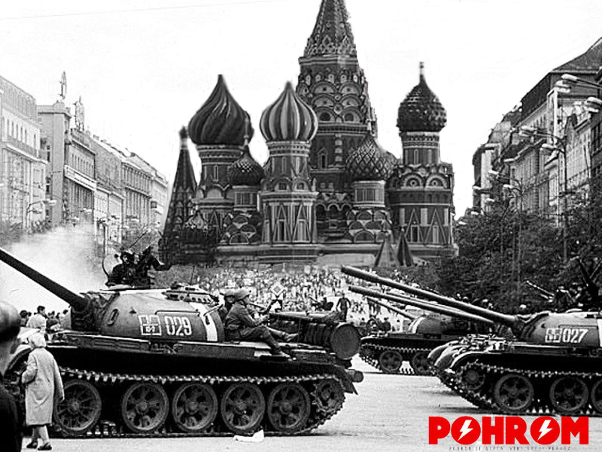Jedna z fotografií jednoznačně přepisující historii tak, jak ji známe. Tanky před Kremlem. Rok 1968!